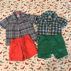 12 month Two Piece Short Sets